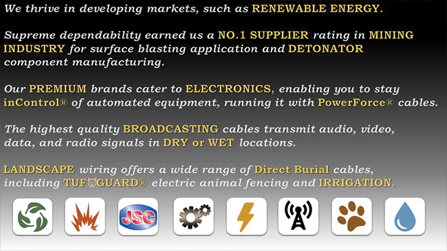 highest quality wire and cables for all industries